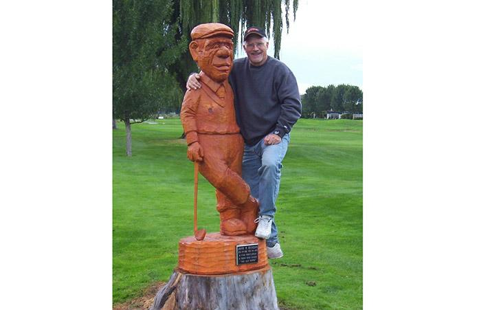 rick weibe classic whittling statue